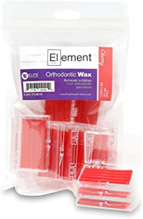 Element Dental Orthodontic Wax 10 Pack-10 Colors/scents Available (Red/Cherry)