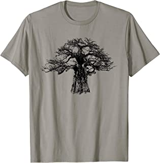 Giant Baobab Tree T-Shirt in Bold Monochrome for Tree Lovers