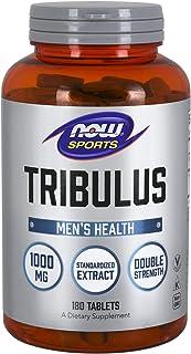 NOW Sports Nutrition, Tribulus (Tribulus terrestris) 1000 mg, Double Strength, Men's Health, 180 Tablets