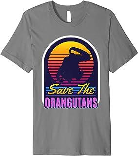Vintage Retro Save The Orangutans Gifts for Orangutan Lovers Premium T-Shirt