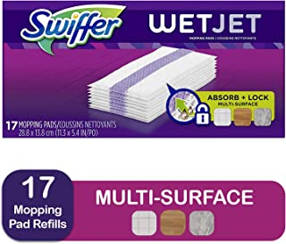 Swiffer Wetjet Hardwood Mop Pad Refills for Floor Mopping and Cleaning, All Purpose Multi Surface Floor Cleaning Product, ...
