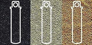 Miyuki Metallic Seed Beads Mix, Size 15/0, Galvanized Silver, Galvanized Gold and Black Opaque (8.2 Gram Tubes X 3)