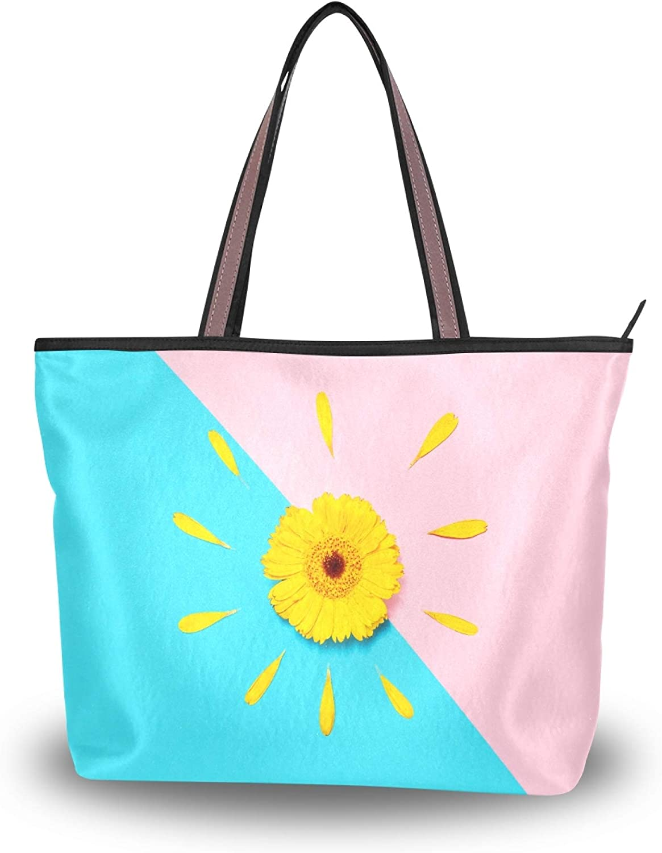 5 ☆ very popular Tote Bag Handbag for Ranking TOP5 Women Beautiful Spring Flower Yellow Gerbe