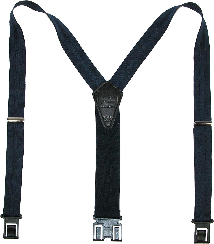Perry Suspenders Men's Elastic Hook End Striped Dress Suspenders