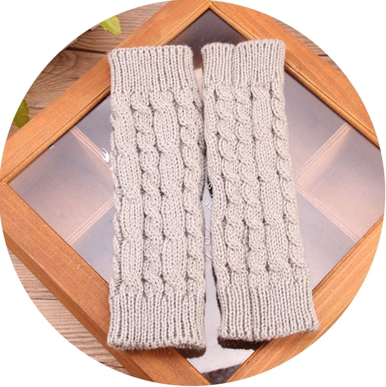 Samantha Warm Gloves Women Gloves Stylish Winter Gloves Women Arm Crochet Knitting Faux Wool Mitten Warm Fingerless Gloves (Color : Light Gray, Size : Free Size)