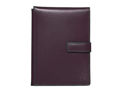 Lodis Accessories Audrey Passport Wallet w/ Ticket Flap (Deep Plum/Ivy) Checkbook Wallet