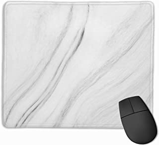 Gaming Mouse Pad Custom Design,Grey Marble Texture Funny Mouse Pads,Non-Slip Rubber Base Small Mousepad