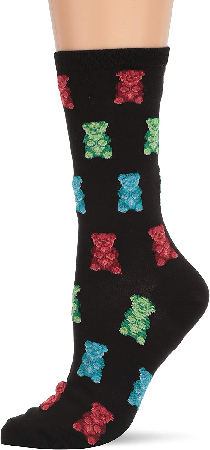 Hot Sox womens Food and Drink Novelty Casual Crew Socks