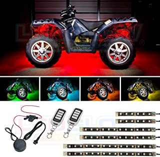 2pc 6ft Spiral LED Whip Lights w//Flag 21 Modes Lighted Antenna Whips Wireless Remote Weatherproof 20 Colors Accessories for ATV Polaris RZR 4 Wheeler