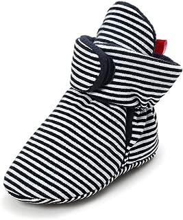 RVROVIC Baby Boys Girls Cozy Fleece Booties Newborn Infant Cotton Boots Warm Winter Socks Slippers Crib Shoes