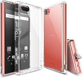 Ringke Fusion Diseñado para Funda Sony Xperia Z5 Compact, Transparente al Dorso Carcasa Xperia Z5 Compact (2015) Protección Resistente Impactos TPU + PC Funda para Xperia Z5 Compact - Clear
