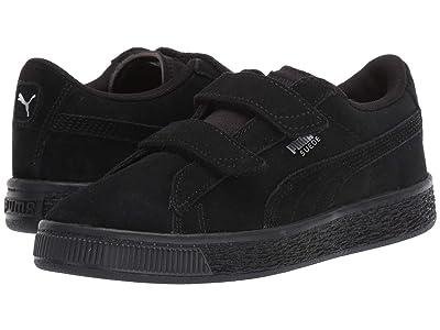 Puma Kids Suede 2 Straps (Little Kid) (Puma Black/Puma Silver) Kids Shoes