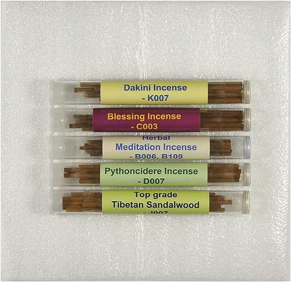 Tibetan Incense Sample Pack 1 5 Tubes Set Dakini Incense Blessing Incense Herbal Meditation Incense Pythoncidere Incense Top Grade Tibetan Sandalwood TIS551