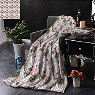 SSKJTC Ice Cream Small Throw Blanket Double-Sided Printing Grunge Cupcakes Bed Sleeping Travel Pets Reading W70 xL84