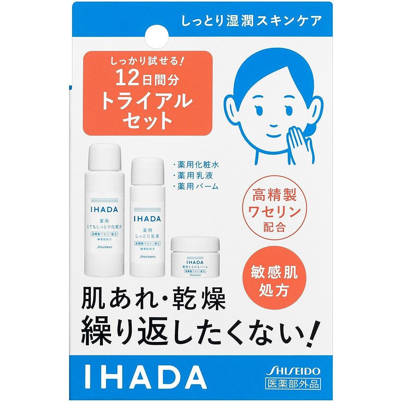 構想するストライク広告イハダ 薬用スキンケアトライアルセット 化粧水(とてもしっとり)25ml 乳液15ml バーム5g 約12日分