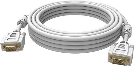 Vision 2X VGA 15-Pin D-Sub, 1m Cable VGA VGA (D-Sub) Blanco - Cables VGA (1m, 1 m, VGA (D-Sub), VGA (D-Sub), Macho, Macho, Blanco)