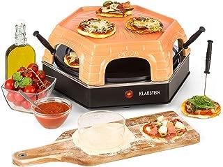 Klarstein Capricciosa Horno para 6 personas - Horno para pizzas , Eléctrico , 1500 W , Cocción en 5-7 minutos , Cubierta de terracota , Conserva el calor , Negro