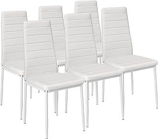 TecTake Set de sillas de Comedor 41x45x985cm cantidades - (6X Blanco | No. 401850)