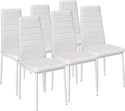 HomeSouth - Pack Seis sillas tapizadas Tela Gris, Silla ...