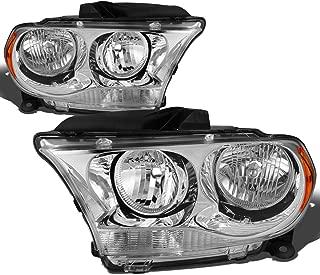 DNA Motoring HL-OH-DDUR11-CH-AM Left+Right Headlight Chrome/Amber[11-13 Dodge Durango]