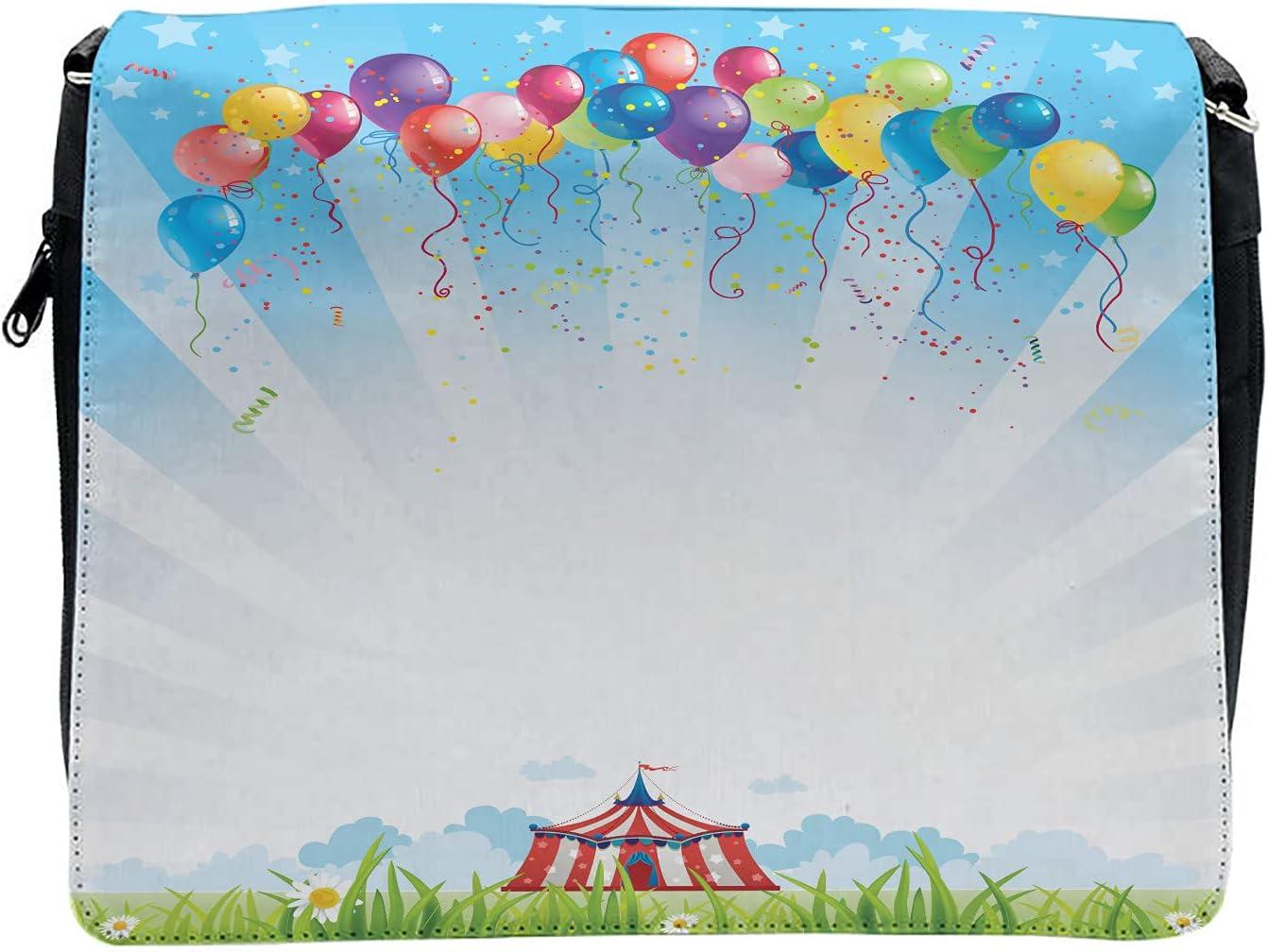 Ambesonne Flower Cross Body Messenger Bag, Balloon Clear Sky Travel, Unisex