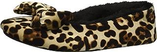 Women's Printed Velvet Ballet Slipper, Leopard, M Regular US