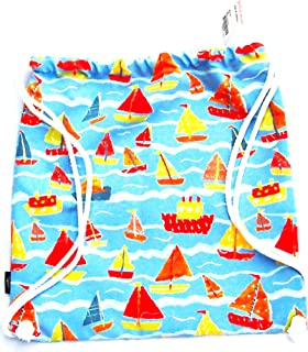 Beautiful Jim Thompson - Cotton Pouch / Bag / Sack / Backpack / Shopping Tote - Sailing