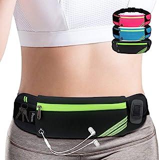 Slim Running Belt Fanny Pack,Waist Pack Bag for Hiking Fitness Cycling Workout Gym,Reflective Runners Belt Jogging Pocket ...