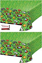 2 Pack - Gaming Gamer Birthday Party Plastic Table Cover 54 x 102 Inches (Plus Party Planning Checklist by Mikes Super Store)