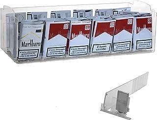 Présentoir de comptoir pour tabac avec 6 poussoirs tabac