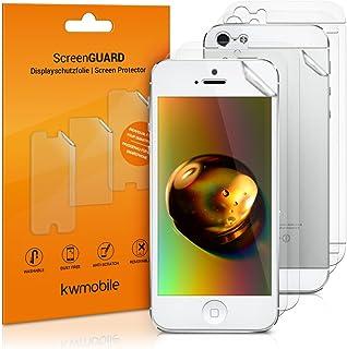 kwmobile 3x pellicola protettiva DISPLAY opaca e antiriflesso + 3x pellicola protettiva retro trasparente compatibile con ...