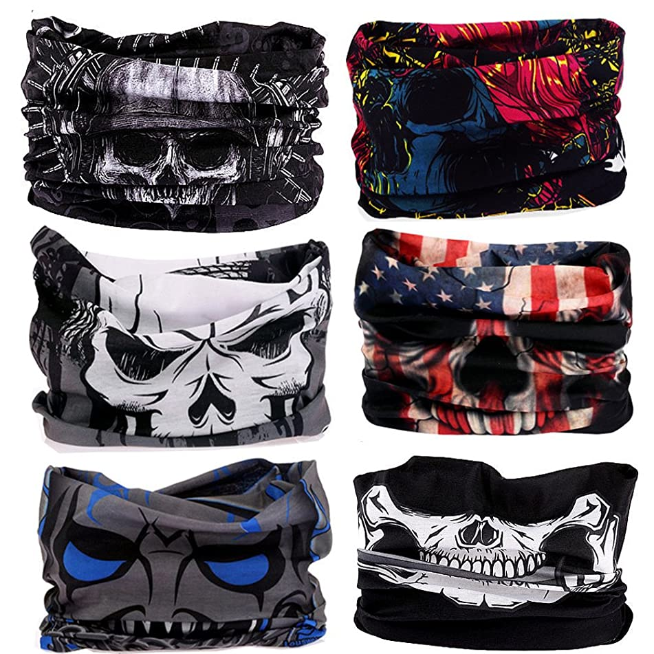 EKLOEN 12PCS/9PCS/6PCS Multifunctional Headband Scarf Bandana Headwrap Mask for Men and Women Magic Scarf for Sport and Casual