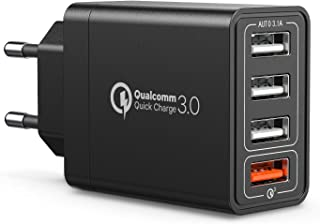 AUKEY Quick Charge 3.0 Auto Ladeger/ät 42W Kfz Ladeger/ät f/ür Samsung Galaxy S8 // Note 8 // 7 iPhone X // 8 // 8 Plus // 7 usw. iPad Air // Pro LG G5 // G6 HTC 10