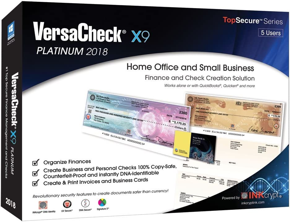 VersaCheck X9 Platinum 2018 Don't miss the campaign - Finance Check 5 Creation Users Memphis Mall