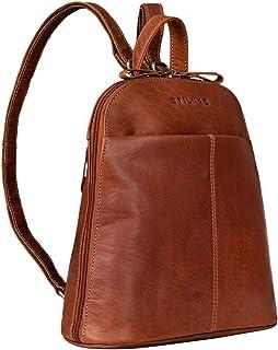 """STILORD """"Olivia"""" City Rucksack Damen Leder Daypack Kleiner Lederrucksack Rucksackhandtasche zum Ausgehen für 9,7 Zoll iPads und 10,1 Zoll Tablets echtes Leder"""