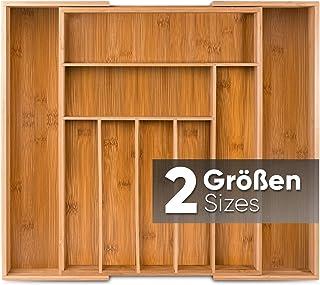 Loco Bird Range Couverts - Range Tiroir Bambou Extensible - jusqu'à 9 compartiments - organisateur tiroir cuisine utile po...