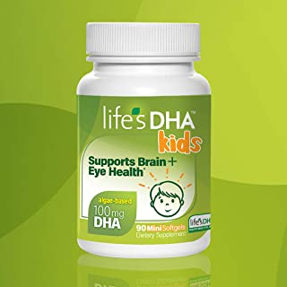Life's DHA Kids All-Vegetarian DHA Dietary Supplement | Supports a Healthy Brain, Eyes & Heart* | 100% Vegetarian | From A...