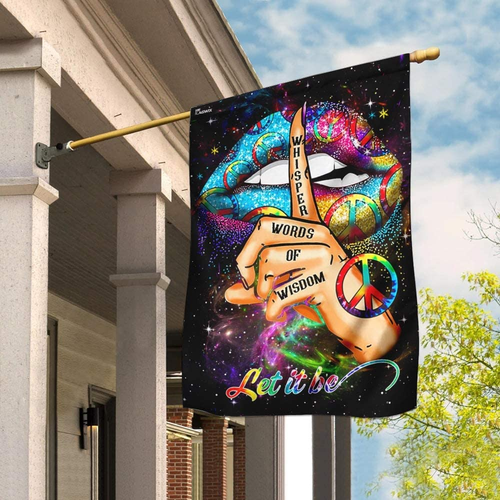 期間限定 今ダケ送料無料 Flags-Hippie Whisper Words of Wisdom House QNN39F Flag 29