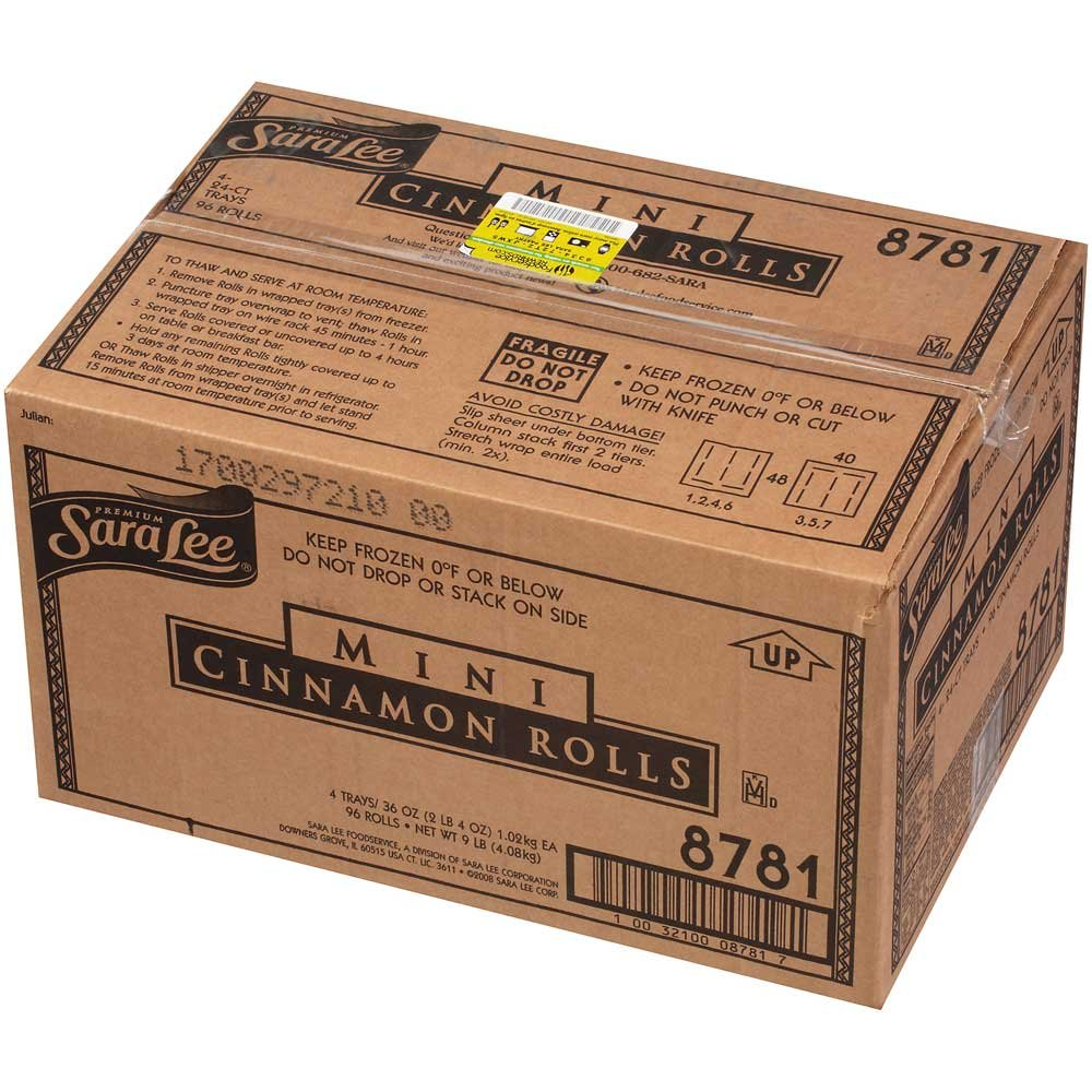 Sara Lee Mini Cinnamon Roll 1.5 case. Virginia Beach Mall -- per Ounce 96 2021 model