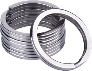 Outus 32 mm Titanium Key Rings Split Rings, 5 Pack