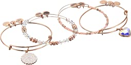 Alex and Ani - Paper Hearts Set of 4 Bracelet
