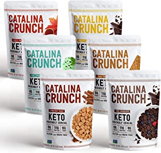 Catalina Crunch Keto Cereal Variety Pack (6 Flavors): Keto Friendly, Low Carb, Zero Sugar, Plant Protein, H...