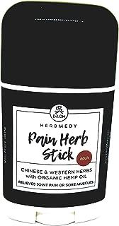 Herbmedy Pain Herb Stick with Organic Hemp Oil, 1.75 oz - Relieves Muscle, Joint & Arthritis Pain, Hemp Oil, MSM & Herb