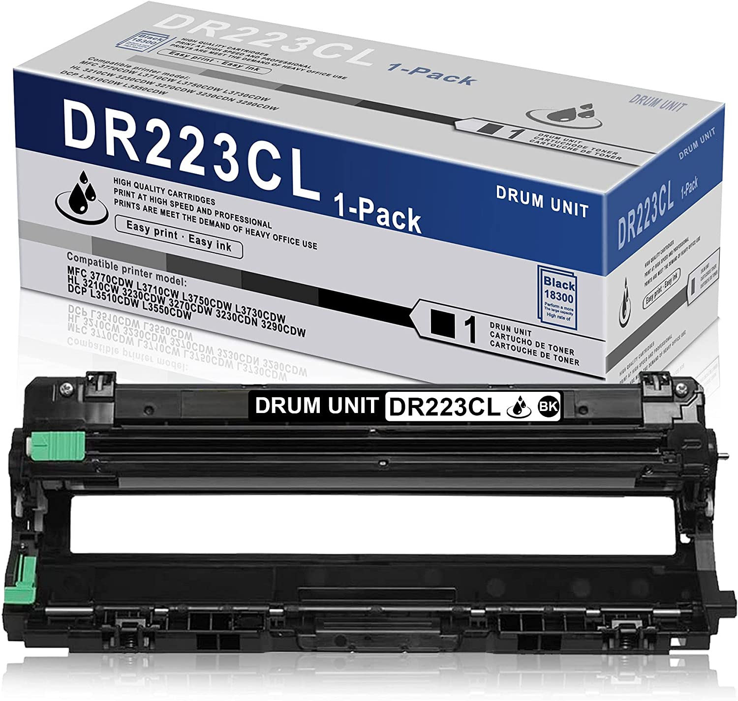 1 Pack Black High Yield Drum Unit DR223CL DR-223CL Compatible Replacement for Brother MFC 3770CDW L3710CW L3750CDW L3730CDW HL 3210CW 3230CDW 3270CDW 3230CDN 3290CDW DCP L3510CDW L3550CDW Printer