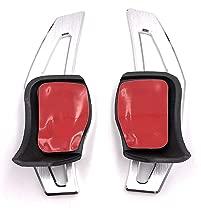 shanze for VW MK5 MK6 GTI Jetta Aluminum Steering Wheel DSG Paddle Extension(Silver)