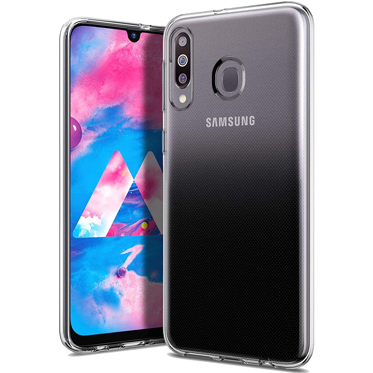 Olixar for Samsung Galaxy M30 Clear Case - Slim Gel TPU Thin Soft - Protective Clear Case Cover for Galaxy M30 - Ultra Clear