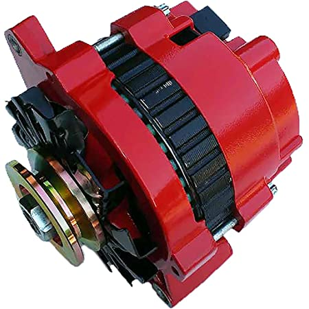 Amazon.com: fits from 1965 to 1980 RED ALTERNATOR FOR GM CHEVROLET 1965-1980  ONE 1-WIRE Alternator and it comes wtih v groove pulley: Automotive | 1980 Chevy Alternator Wiring |  | Amazon.com