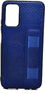كفر حماية جلد مع حامل لجهاز شاومي بوكو M3 (أزرق)