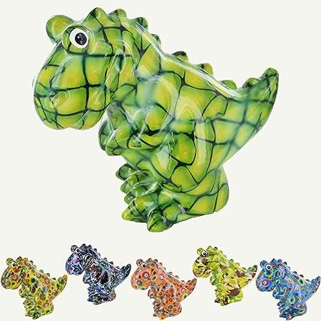 udc Pomme Pidou 20 x 17 x 11 cm Salvadanaio in ceramica Dinosauro Tito blu con cuore e fiocco