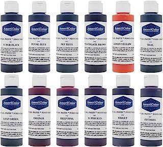 Food Coloring Americolor Kit - 12 Soft Gel Paste Colors - 4.5 Ounce Bottles
